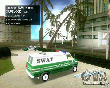 Chevrolet Van G20 para GTA Vice City vista direita