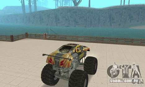 Monster Truck Maximum Destruction para GTA San Andreas esquerda vista