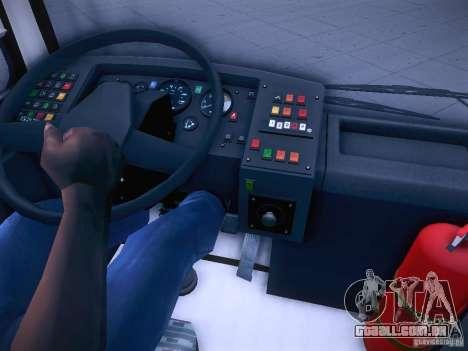 Ikarus 415 para GTA San Andreas vista superior