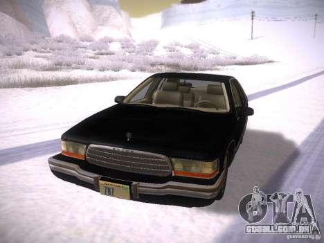 Buick Roadmaster 1996 para GTA San Andreas esquerda vista