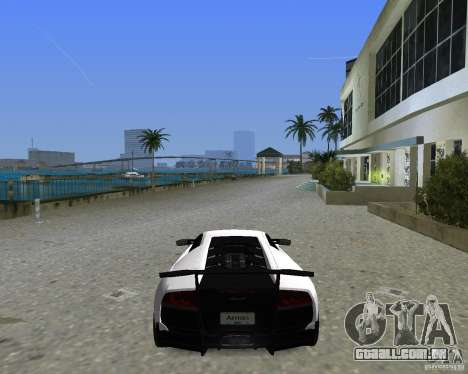 Lamborghini Murcielago LP670-4 SV para GTA Vice City vista traseira esquerda