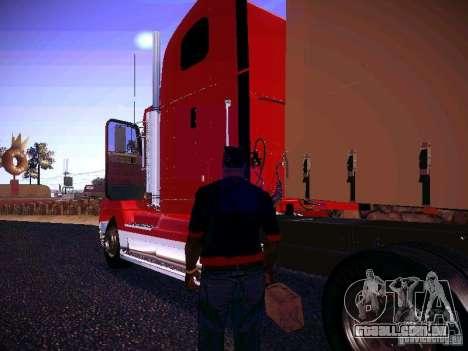 Freightliner FLD 120 para GTA San Andreas traseira esquerda vista