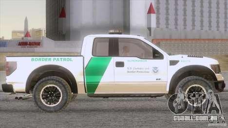 Ford Raptor para GTA San Andreas vista direita