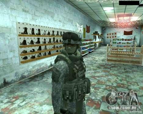 Soldado de infantaria pele CoD MW 2 para GTA San Andreas sexta tela