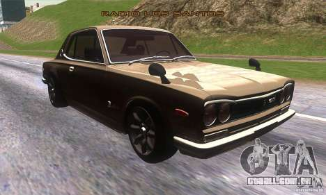 Nissan Skyline 2000 GT-R para GTA San Andreas vista traseira