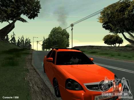 LADA 2170 102-RUS para GTA San Andreas vista traseira