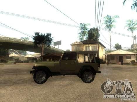 Jeep Wrangler 1986 4.0 Fury v.3.0 para GTA San Andreas esquerda vista