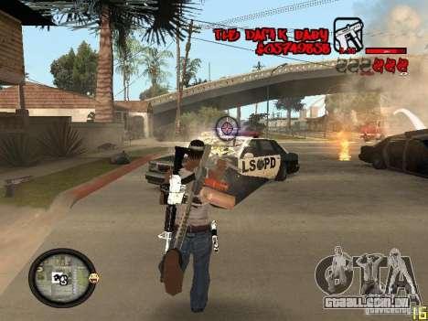 Hud by Dam1k para GTA San Andreas quinto tela