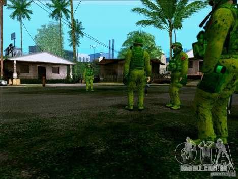 Camuflagem de floresta Morpeh para GTA San Andreas sexta tela