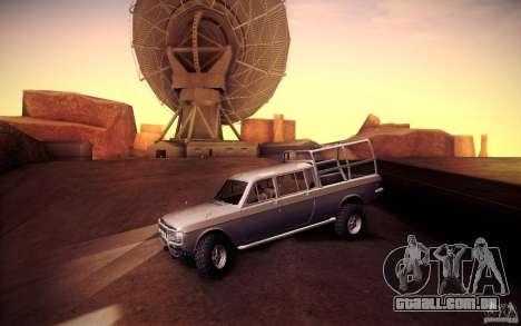 GAZ 2402 4 x 4 PickUp para GTA San Andreas traseira esquerda vista