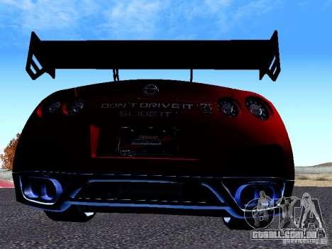 Nissan Skyline R35 Drift Tune para GTA San Andreas vista direita