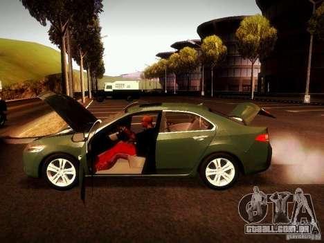 Acura TSX para GTA San Andreas vista traseira