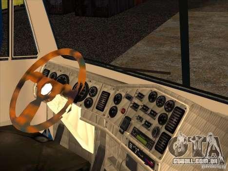 Freightliner Argosy Skin 1 para GTA San Andreas vista interior