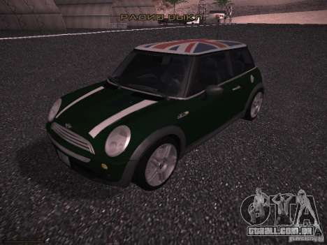 Mini Cooper S para GTA San Andreas vista inferior