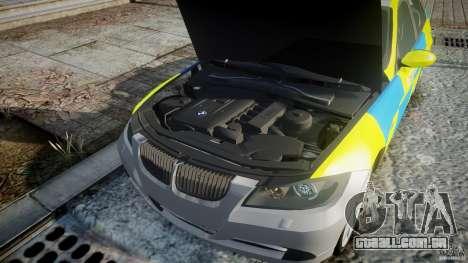 BMW 350i Indonesian Police Car [ELS] para GTA 4 vista superior