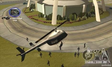 Police Maverick 2 para GTA San Andreas vista traseira