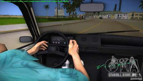 VAZ 1111 Oka para GTA Vice City interior