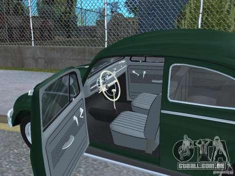 Volkswagen Beetle 1963 para GTA San Andreas vista traseira