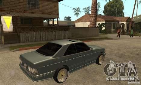 Mercedes-Benz 560 sec w126 1991 para GTA San Andreas vista direita