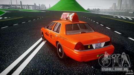 Ford Crown Victoria 2003 v.2 Taxi para GTA 4 traseira esquerda vista