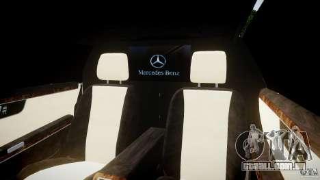 Mercedes-Benz S600 Guard Pullman 2008 para GTA 4 vista interior