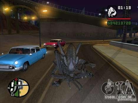Alien Xenomorph para GTA San Andreas segunda tela