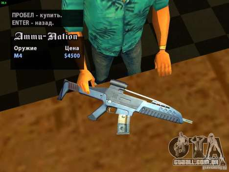 XM8 V1.1 para GTA San Andreas quinto tela