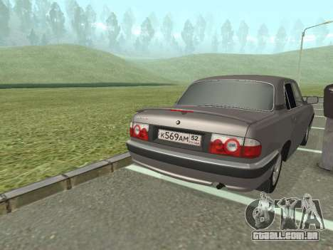 GAZ Volga 31105 restyling para GTA San Andreas traseira esquerda vista
