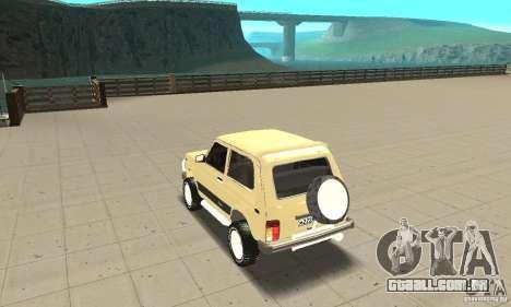 VAZ 21213 4 x 4 para GTA San Andreas traseira esquerda vista