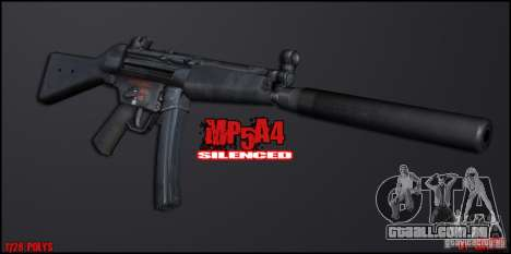 MP5A4 Silenced para GTA San Andreas segunda tela
