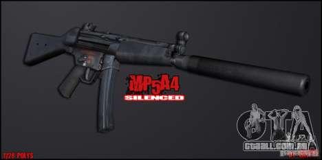 MP5A4 Silenced para GTA San Andreas segunda tela