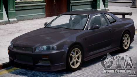 Nissan Skyline GT-R 34 V-Spec para GTA 4 esquerda vista