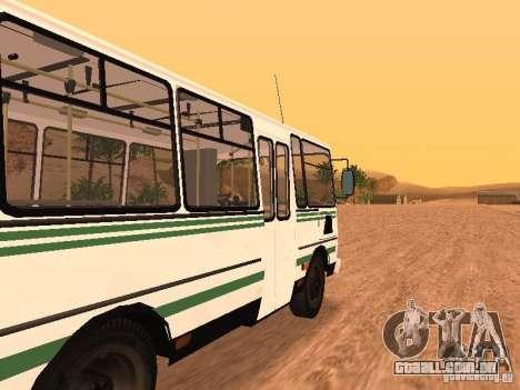 SULCO 32054 para GTA San Andreas traseira esquerda vista