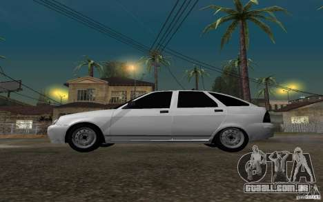 Hatchback tuning luz de LADA priora para GTA San Andreas esquerda vista