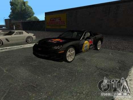 Chevrolet Corvette C6 para GTA San Andreas vista superior