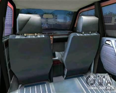 Mercedes-Benz E190 para GTA Vice City vista traseira