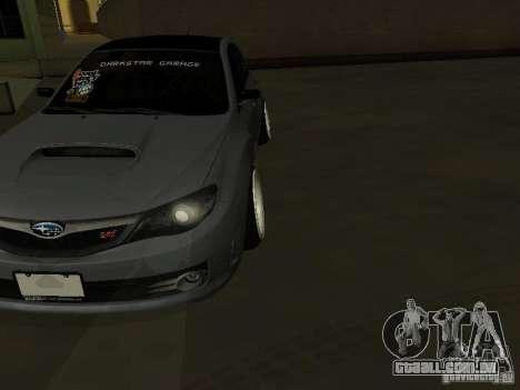 Subaru Impreza STI hellaflush para GTA San Andreas vista traseira