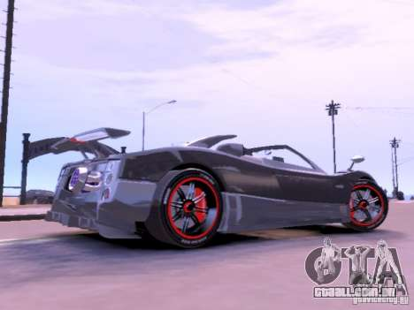 Pagani Zonda Cinque Roadster v 2.0 para GTA 4 esquerda vista