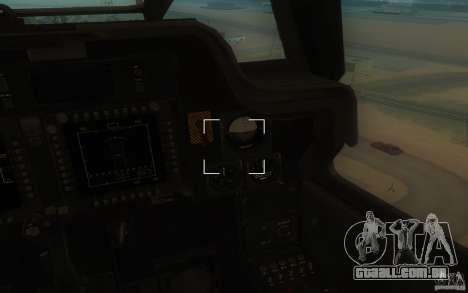 AH-64D Longbow Apache para GTA San Andreas traseira esquerda vista