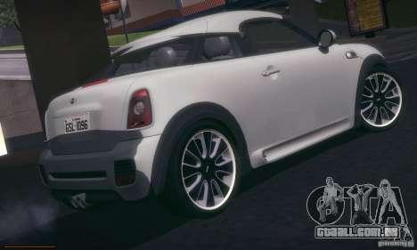 Mini Concept Coupe 2010 para GTA San Andreas vista direita