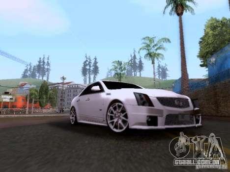 Cadillac CTS-V 2009 para GTA San Andreas esquerda vista