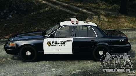 Ford Crown Victoria Police Interceptor 2003 LCPD para GTA 4 esquerda vista