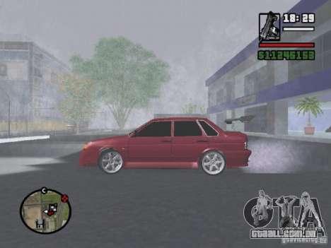VAZ 2115 TUNING para GTA San Andreas esquerda vista
