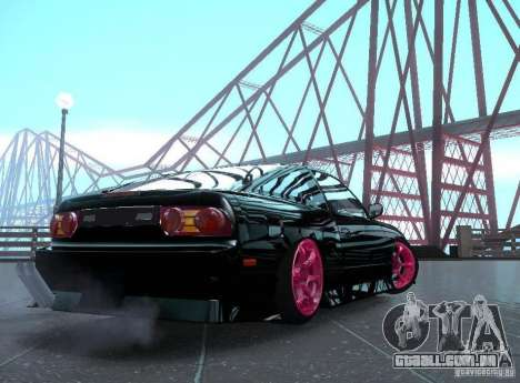 Nissan 240SX Team Top Flight para GTA San Andreas esquerda vista