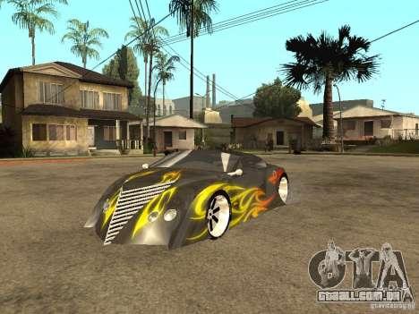 Thunderbold SlapJack para GTA San Andreas esquerda vista
