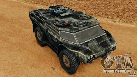 Armored Security Vehicle para GTA 4 vista superior