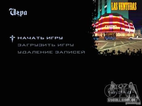 Novas imagens do menu para GTA San Andreas segunda tela