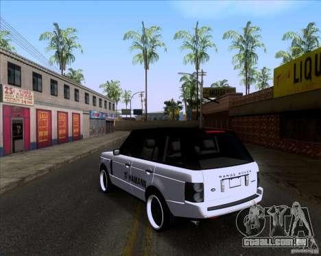 Range Rover Hamann Edition para GTA San Andreas traseira esquerda vista