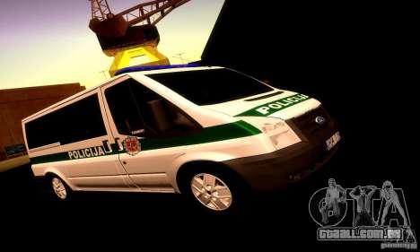 Ford Transit Policija para GTA San Andreas esquerda vista