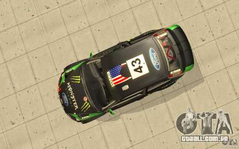 Ford Focus RS WRC 08 para GTA San Andreas vista superior